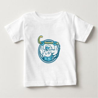 Yeti Lifting J Hook Circle Retro Baby T-Shirt