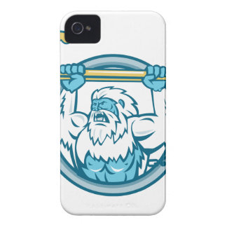 Yeti Lifting J Hook Circle Retro Case-Mate iPhone 4 Case