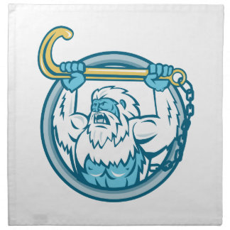 Yeti Lifting J Hook Circle Retro Napkin
