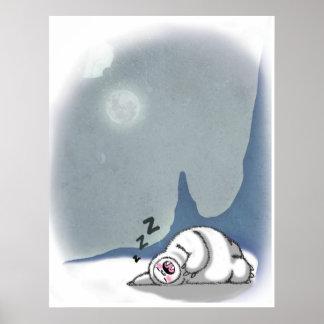 Yeti Needs to Sleep Too Poster