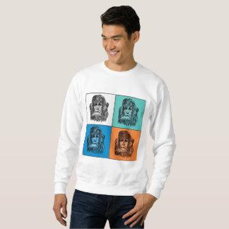 Yeti portrait in pop art style sweatshirt