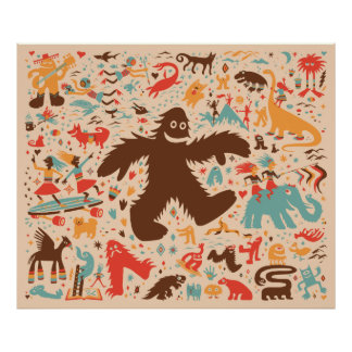 Yeti Romp Adventure Kids Print