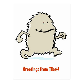yeti with your words! postcard