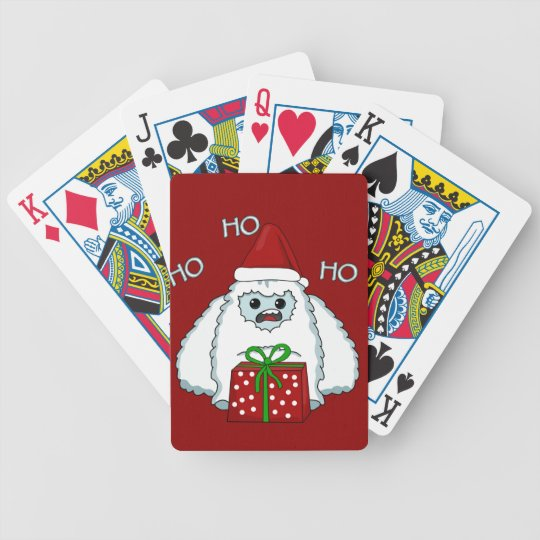Yeti Xmas Bicycle Playing Cards