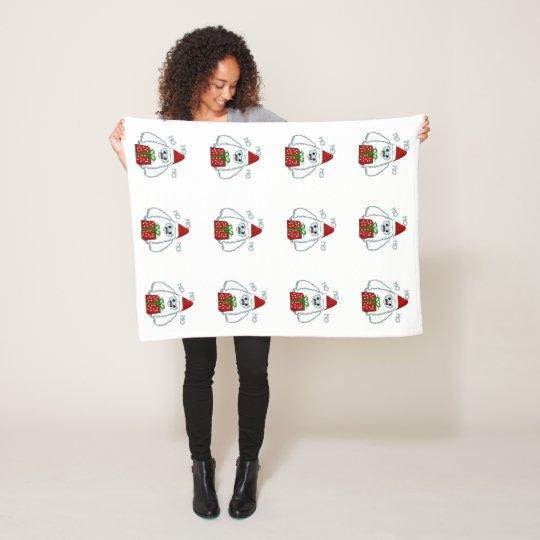 Yeti Xmas Fleece Blanket
