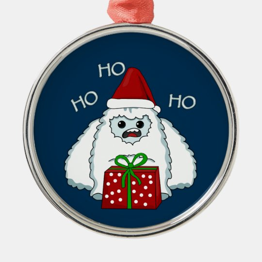 Yeti Xmas Metal Ornament