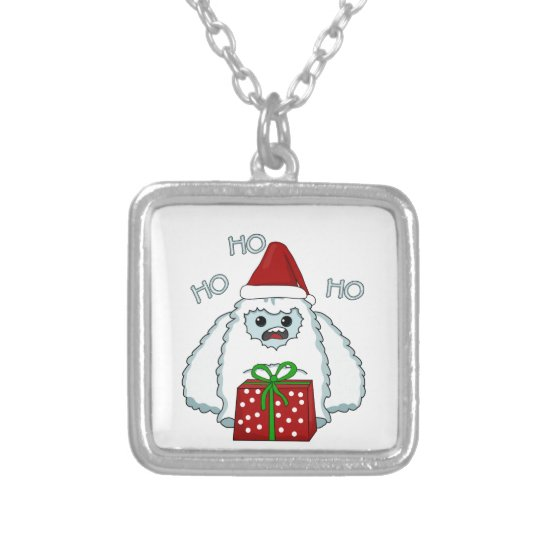 Yeti Xmas Silver Plated Necklace