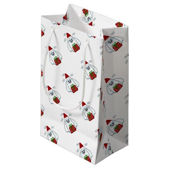 Yeti Xmas Small Gift Bag