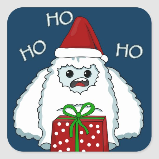 Yeti Xmas Square Sticker