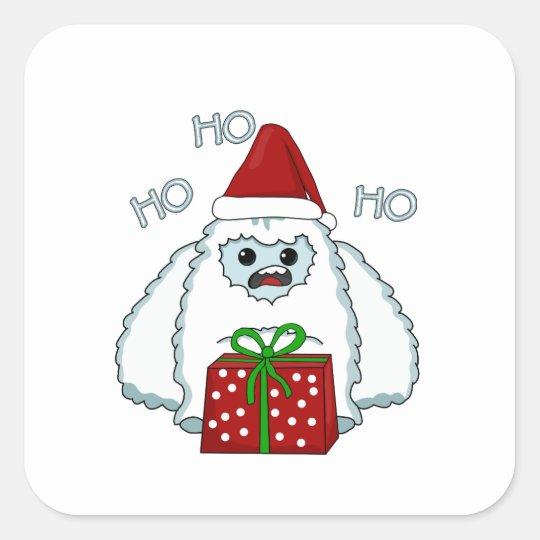 Yeti Xmas Square Sticker