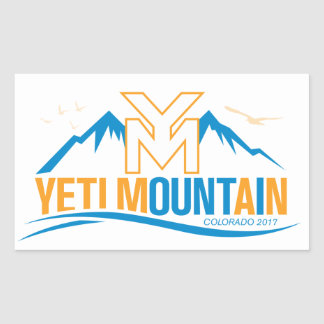 YetiMan Mountain Colorado 2017 Color Rectangular Sticker