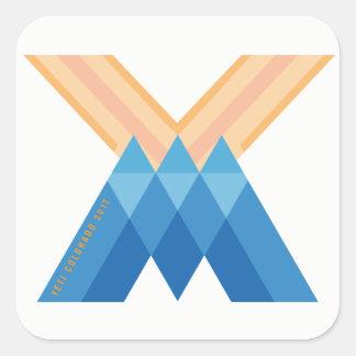 YetiMen Logo Colorado 2017 Version Square Sticker