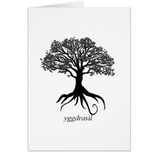 Yggdrasil Tree Of Life Card
