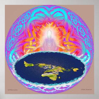 YHWH Creation original painting ~ Hidden Mountain Poster