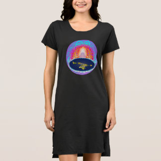 "YHWH""s Creation flatearth Hidden Mountain painting Dress"