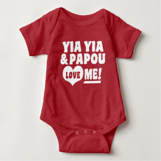 Yia Yia and Papou Love Me Baby Bodysuit