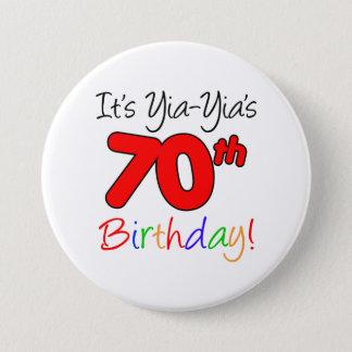 Yia-Yia's 70th Milestone Birthday Party Button