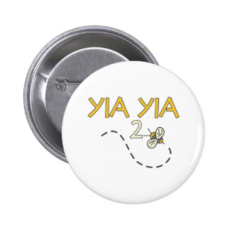 YiaYia 2 Bee 6 Cm Round Badge
