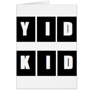 YID KID WEAR GREETING CARD