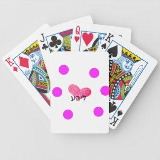 Yiddish Language of Love Design Bicycle Playing Cards