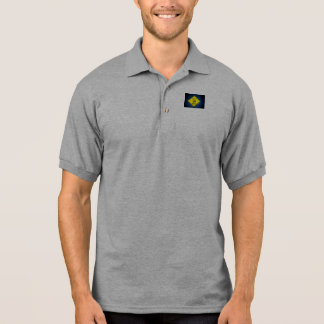 Yield to Golf Traffic Caution Sign Polo Shirt