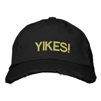 YIKES! EMBROIDERED BASEBALL CAP