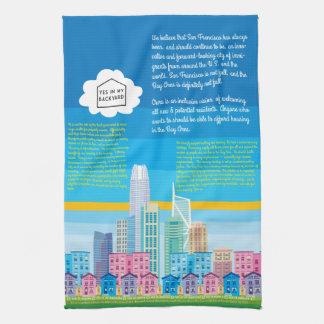 YIMBY Kitchen Towel - San Francisco Skyline