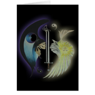 """Yin and Yang 2"" Art Card"