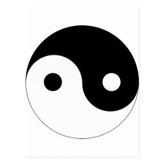 yin and yang balance symbol religion tao taoism postcard