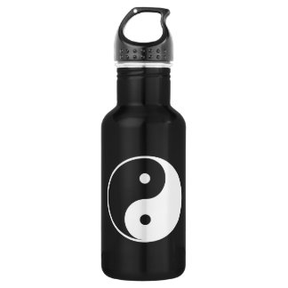 Yin and Yang Black and White 532 Ml Water Bottle