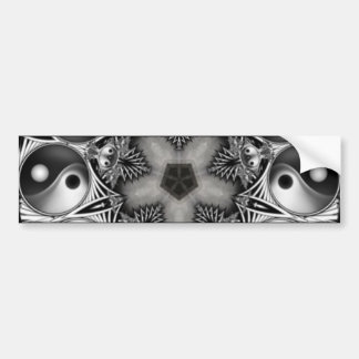 Yin and Yang Car Bumper Sticker
