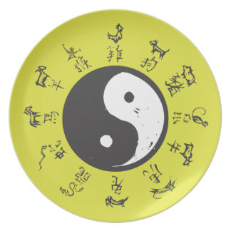Yin and Yang Chinese zodiac Plate