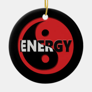 Yin and yang energy concept. ceramic ornament