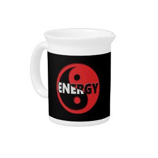 Yin and yang energy concept. pitcher