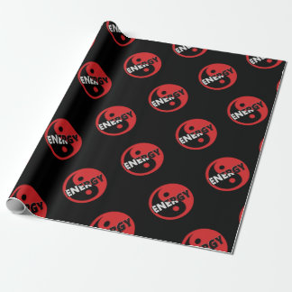 Yin and yang energy concept. wrapping paper