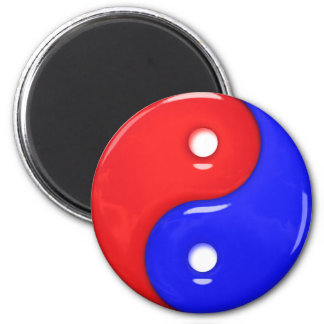 Yin and Yang Glass Magnets
