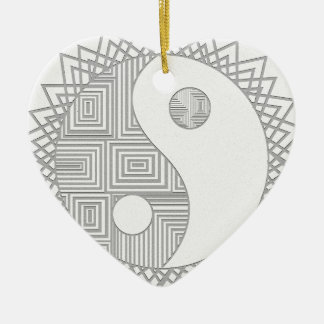 Yin and Yang I Ceramic Ornament
