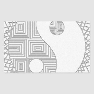 Yin and Yang I Rectangular Sticker