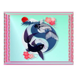Yin and Yang Koi Postcards