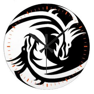 Yin and yang large clock