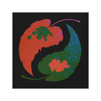 Yin and Yang Leaves Canvas Print