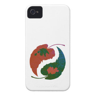 Yin and Yang Leaves Case-Mate iPhone 4 Cases