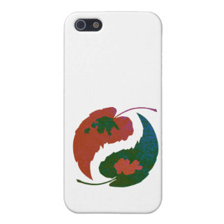 Yin and Yang Leaves iPhone 5 Case