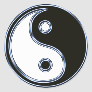 Yin and Yang Medallion Classic Round Sticker