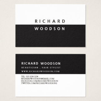 Yin and Yang Modern Black White Minimal Business Card