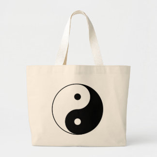 Yin and Yang Motivational Philosophical Symbol Large Tote Bag