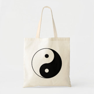 Yin and Yang Motivational Philosophical Symbol Tote Bag