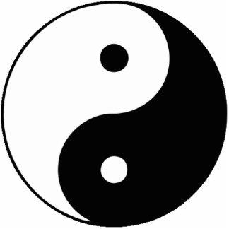 Yin and Yang Photo Cutouts