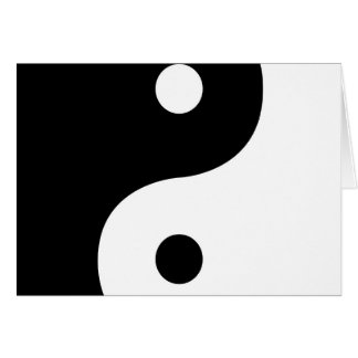 Yin And Yang Sides Card