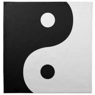 Yin And Yang Sides Napkin